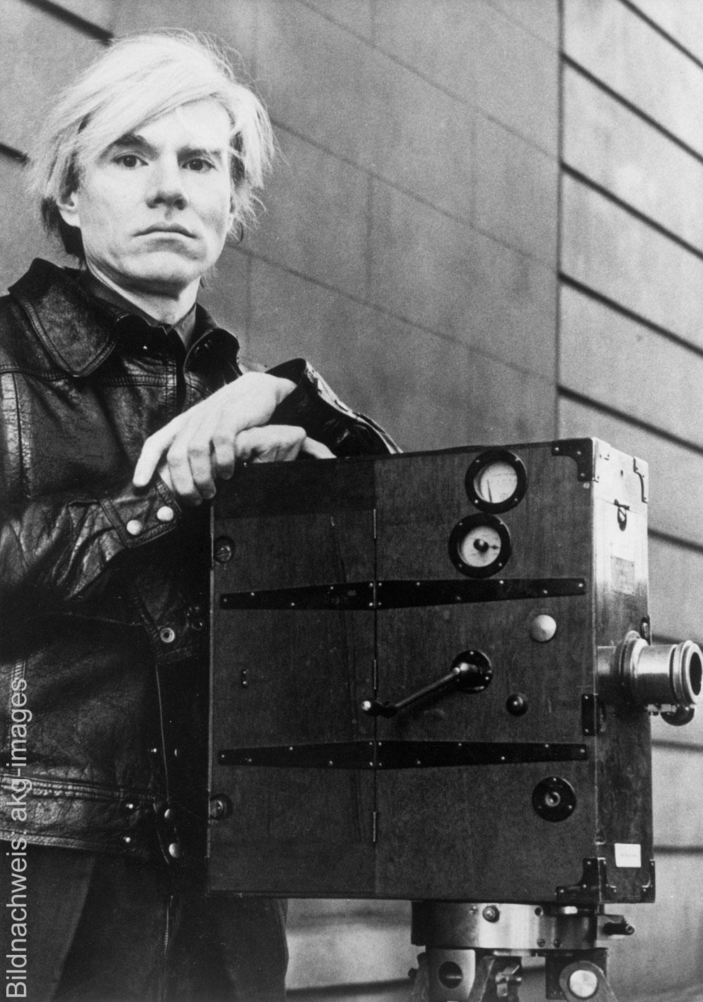 Porträt des Künstlers Andy Warhol
