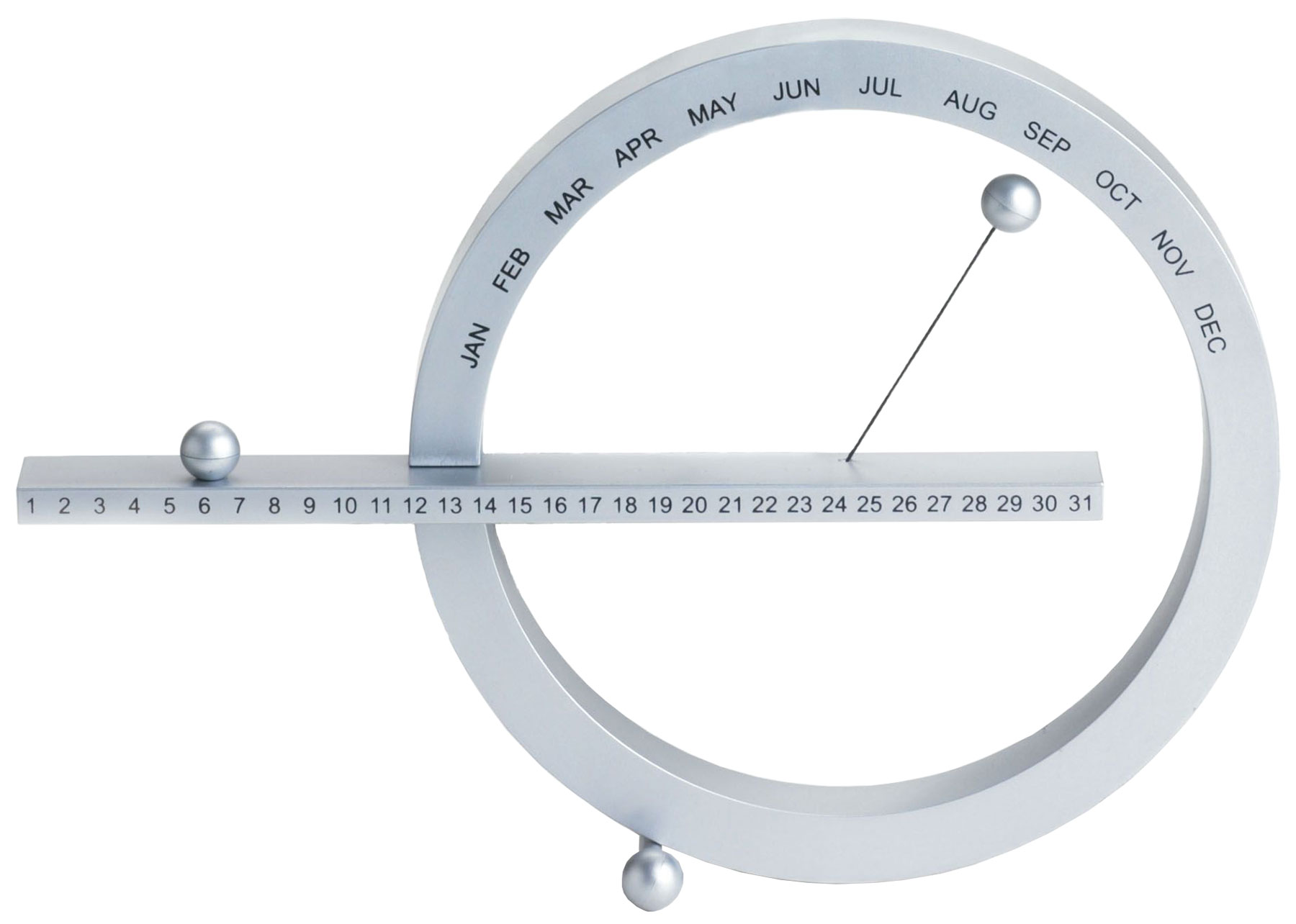 Ewiger Kalender (kleine Version, 14 x 20 cm, silber) - MoMA Kollektion - Design Gideon Dagan