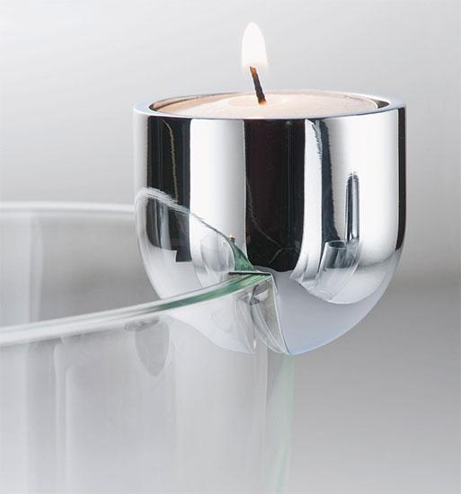 """Glasschale / Teelichthalter """"Arena"""" (ohne Deko)"""