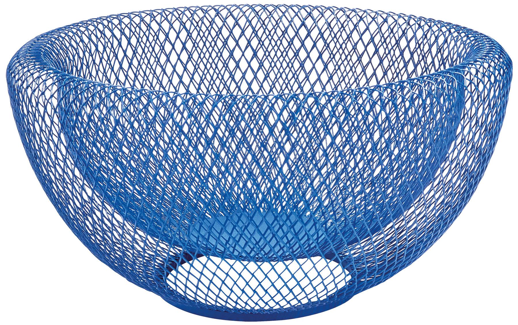 """Obstschale """"Mesh"""", blaue Version - MoMA Kollektion"""