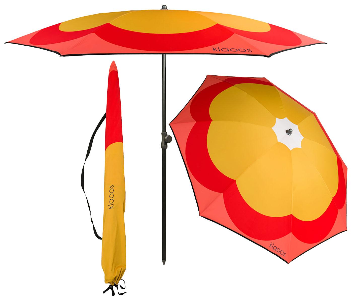 "Strandschirm ""Blume"", Version in Gelb"