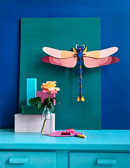 "3D-Wandobjekt ""Giant Dragonfly"" aus recyceltem Karton, DIY"