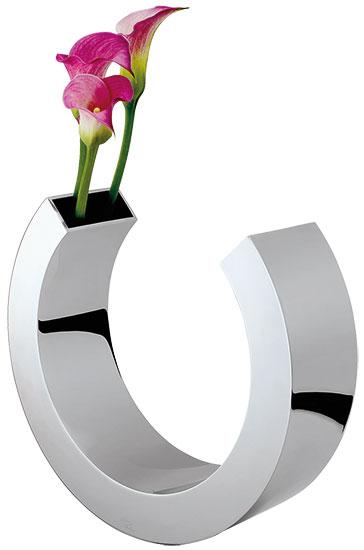 "Vase ""Omega"", Edelstahl"