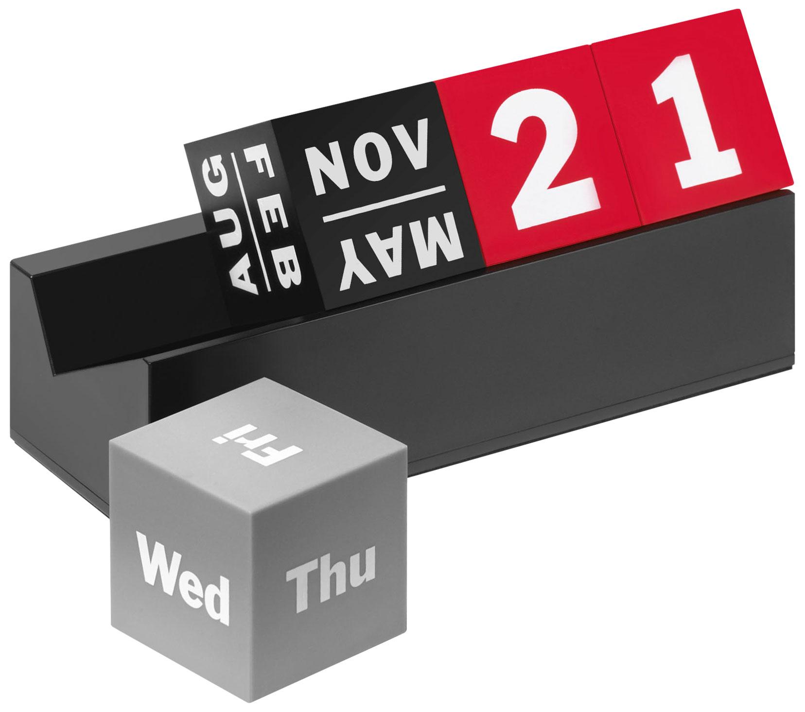 "Ewiger Kalender ""Cubes schwarz/rot"" - MoMA Kollektion"