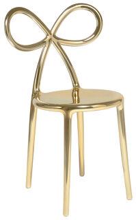 """Designer-Stuhl """"Ribbon Chair"""", goldfarbene Metallic-Version - Design Nika Zupanc"""