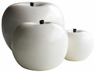 """Keramikobjekt """"Apfel weiß"""" (Kleine Version)"""