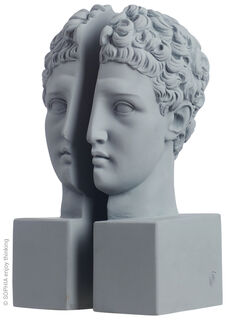 "2-teilige Buchstütze ""Hermes grey"""