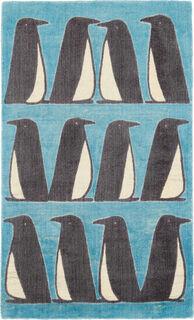 "Teppich ""Pinguin blau"" (klein, 90 x 150 cm)"