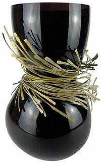 """Vase """"Festive Schwarz"""", Glas/Bronze"""