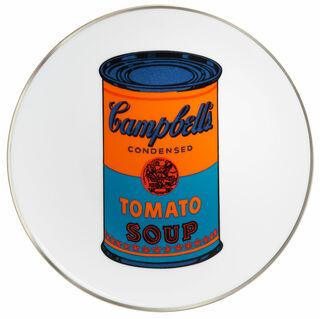 "Porzellanteller ""Coloured Campbells Soup Can"" (Orange/Blau)"