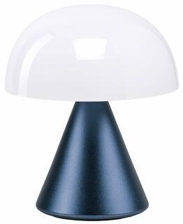 "Kabellose LED-Dekoleuchte ""Mina S"" (Version Metallic Dunkelblau), dimmbar"