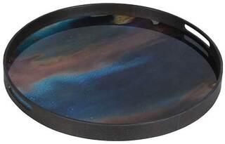 """Tablett """"Galaxie"""" mit Hinterglas-Dekor"""