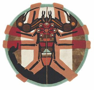 """Teppich """"Sternzeichen Skorpion"""" (24.10.-22.11.) (Ø 100 cm)"""