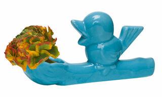 "Keramikvase ""Flower Thief"", blaue Version"