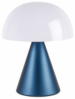 "Kabellose LED-Dekoleuchte ""Mina L"" (Version Metallic Dunkelblau), dimmbar"