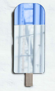 """Wandspiegel """"Nice Cream - Eis am Stiel"""", blaue Version"""