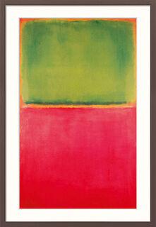 """Bild """"Green Red on Orange"""" (1951), gerahmt"""