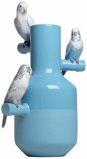 """Porzellanobjekt / Vase """"Parrot Parade"""", handbemalt - Design Alfredo Llorens"""