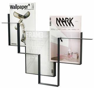 """Wand-Zeitschriftenhalter """"Guidelines"""" (ohne Deko), Version in Anthrazit"""