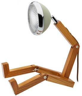 "Flexible LED-Tischlampe ""Mr. Volter"", olivfarbene Version"