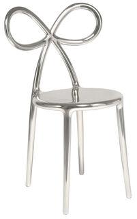 """Designer-Stuhl """"Ribbon Chair"""", silberfarbene Metallic-Version - Design Nika Zupanc"""