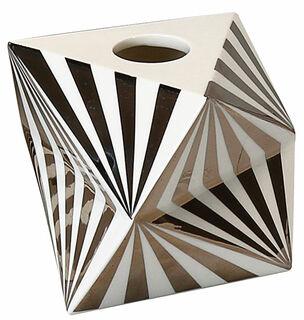 """Kerzenleuchter """"Silver Line"""" (kleine Version, Höhe 6 cm), Porzellan"""