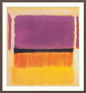 "Bild ""Untitled (Violet, Black, Orange, Yellow on White and Red)"" (1949), gerahmt"