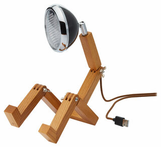"Flexible LED-Tischlampe ""Mini Mr. Volter USB"", schwarze Version"