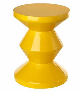 """Hocker / Beistelltisch """"Zig Zag Yellow"""""""