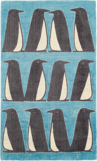 """Teppich """"Pinguin blau"""" (groß, 120 x 180 cm)"""