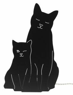 "Tisch- / Wandlampe ""Kitties"", schwarze Version"