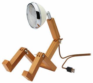 "Flexible LED-Tischlampe ""Mini Mr. Volter USB"", weiße Version"