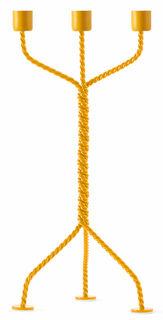 """3-armiger Kerzenhalter """"The Twisted Candleholder"""", gelbe Version - Design Ward Wijnant"""