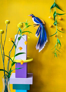 "3D-Wandobjekt ""Flores"" aus recyceltem Karton, DIY"