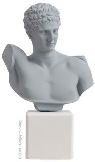 "Büste ""Hermes light grey"""
