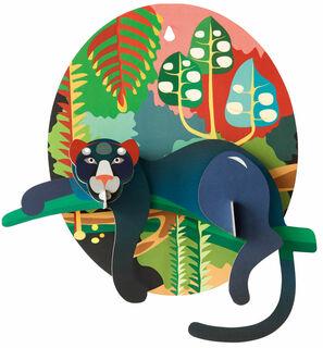 """3D-Wandobjekt """"Jungle Puma"""" aus recyceltem Karton, DIY"""
