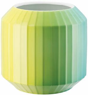 "Porzellanvase ""Hot-Spots - Lime Flush"" (mittelgroß, Höhe 22 cm) - Design Christine Rathmann"