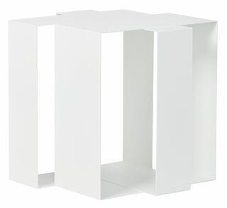"""Beistelltisch """"Shifted Square"""", Version in Weiß"""