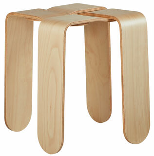 """Hocker """"Criss Cross"""", Version in Holz naturfarben"""
