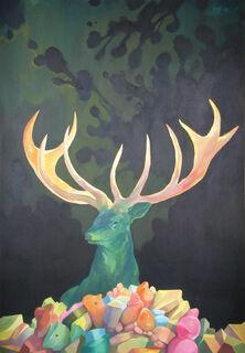"""Bild """"Mysteriöser Hirsch"""" (2013)"""