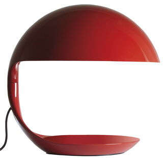 """LED-Tischleuchte """"Cobra"""", Version in Rot - Design Elio Martinelli"""