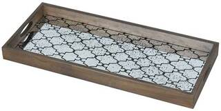 "Tablett ""Pattern"" mit Hinterglas-Dekor"