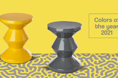 Trendfarben 2021: Die perfekte Verbindung von Gelb und Grau