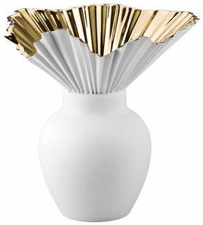 """Vase """"Falda 27 cm"""", Porzellan/Gold titanisiert - Design Sebastian Herkner"""