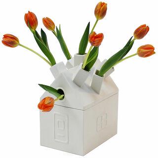 "Keramikvase ""Tulpenhaus"" (ohne Inhalt) - Design David Graas"