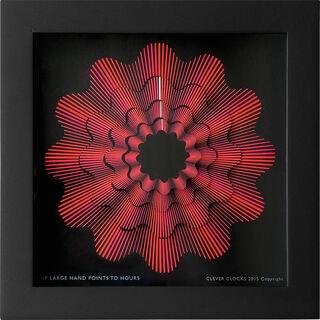 """Zeitkunst-Designuhr """"Red Ribbon"""", Version als Wanduhr"""