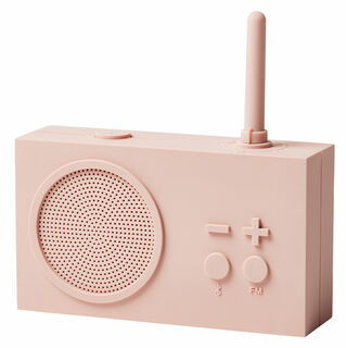 "Mobiles UKW-Radio / Bluetooth-Lautsprecher ""Tykho 3"", Version in Rosa"