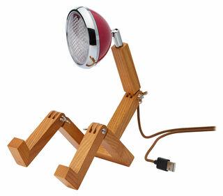 """Flexible LED-Tischlampe """"Mini Mr. Volter USB"""", bordeauxfarbene Version"""