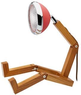"Flexible LED-Tischlampe ""Mr. Volter"", rote Version"