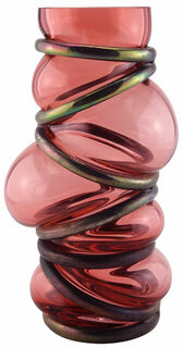 "Vase ""Embracing Rose"", Glas/Metall"